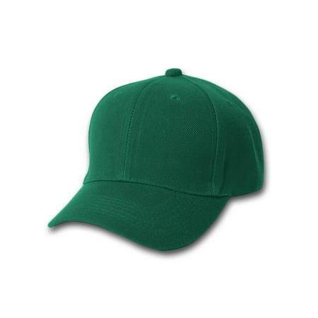12 New Magic Headwear Plain Forest Green Adjustable Closure Wholesale Hats - Whole Sale Hats