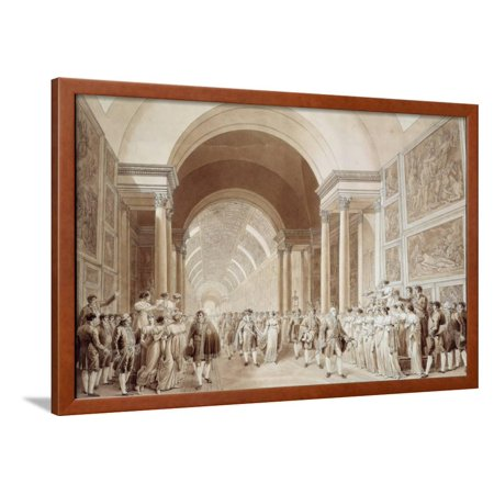 View of the Wedding Procession of Napoleon and Marie Louise Framed Print Wall Art](Wedding Procession)