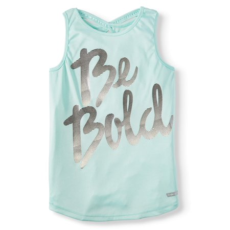 Hind Criss Cross Graphic Active Tank (Little Girls & Big (Big Fake Glasses Trend)