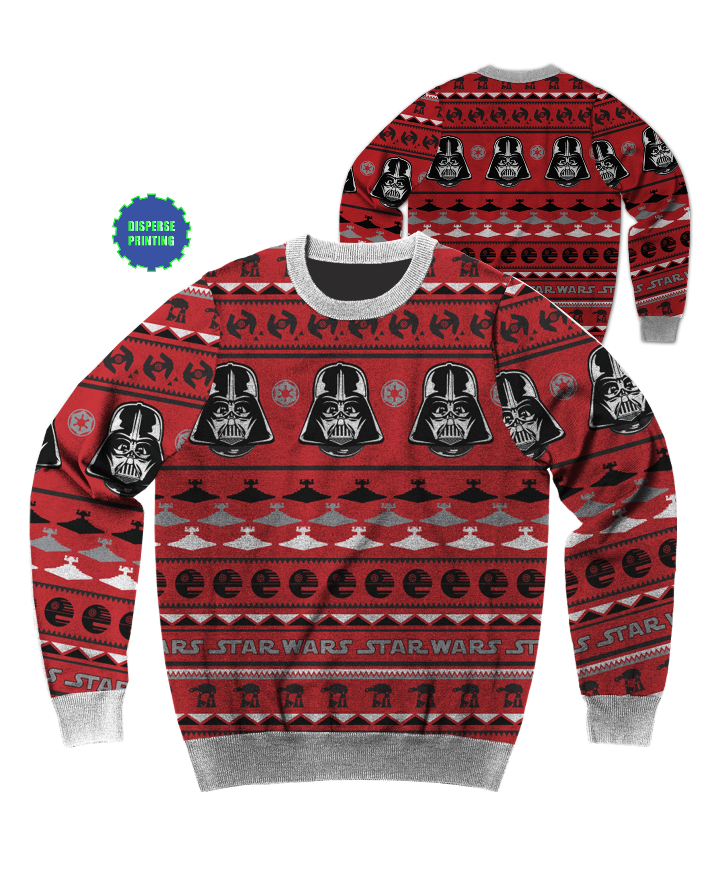 mad engine star wars patterned darth vader ugly christmas sweater x large walmartcom - Ugly Christmas Sweater Star Wars