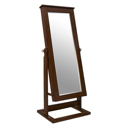 Powell Cheval Mirror Jewelry Wardrobe, Walnut - Powell Pewter Cheval
