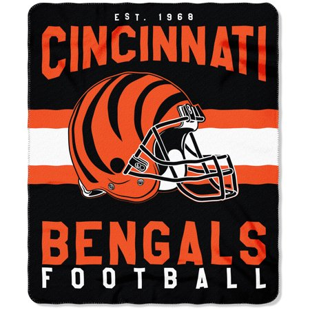 "NFL Cincinnati Bengals ""Singular"" 50"" x 60"" Fleece Throw"
