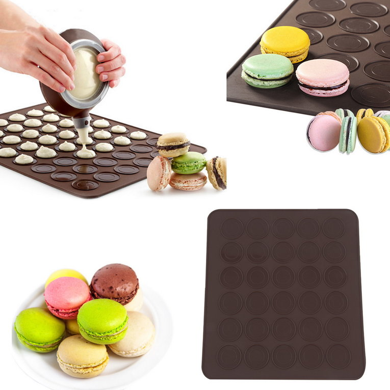 Large 30 Macarons/Muffins Silicone Baking Pastry Sheet Mat Cup Cake Mold Tray Baking and pasta tools