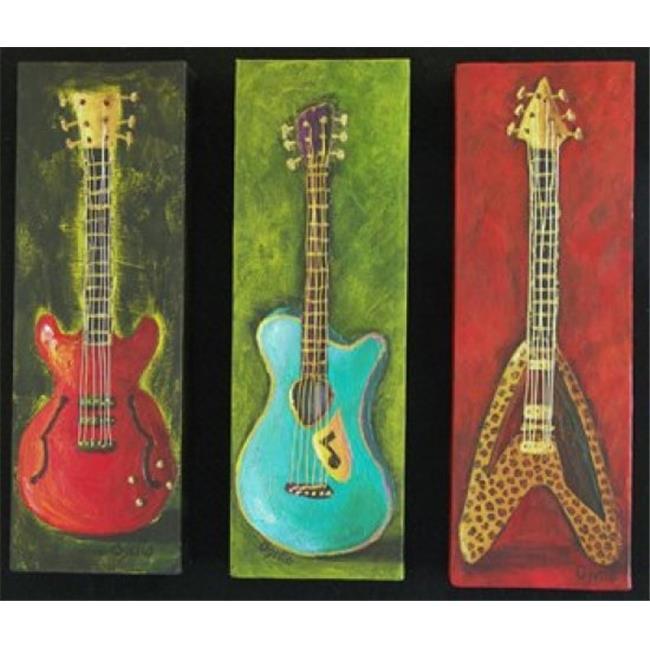 Posterazzi PAIDO019 Three Guitars 2 Poster Print by Debra Ozello - 20 x 16 in. - image 1 de 1