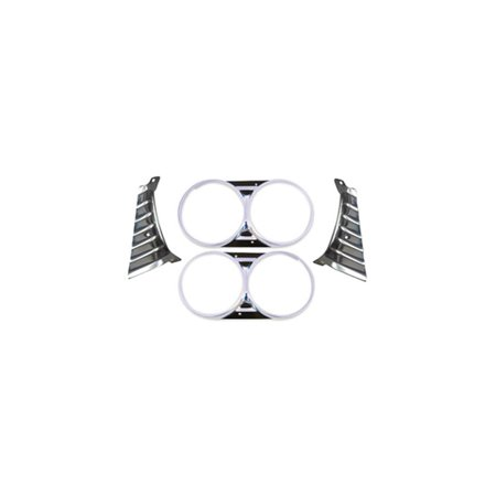 El Camino Headlamp Bezels - Eckler's Premier  Products 55-193343 El Camino Headlight Bezel Set, With Extensions,