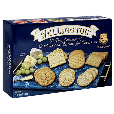 Wellington Assorted Crackers & Biscuits For Cheese, 8.8 oz (Pack of 12)
