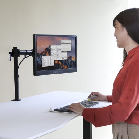 Seville Classics AIRLIFT® 360 Single Adjustable Desk Mount Monitor (Monitor Scald Guard Single)