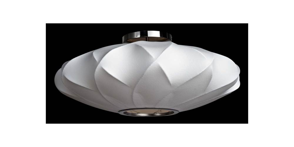 Ceiling Lamp in White (25 in. Dia. x 11 in. H (4 lbs.)) by Legion Furniture