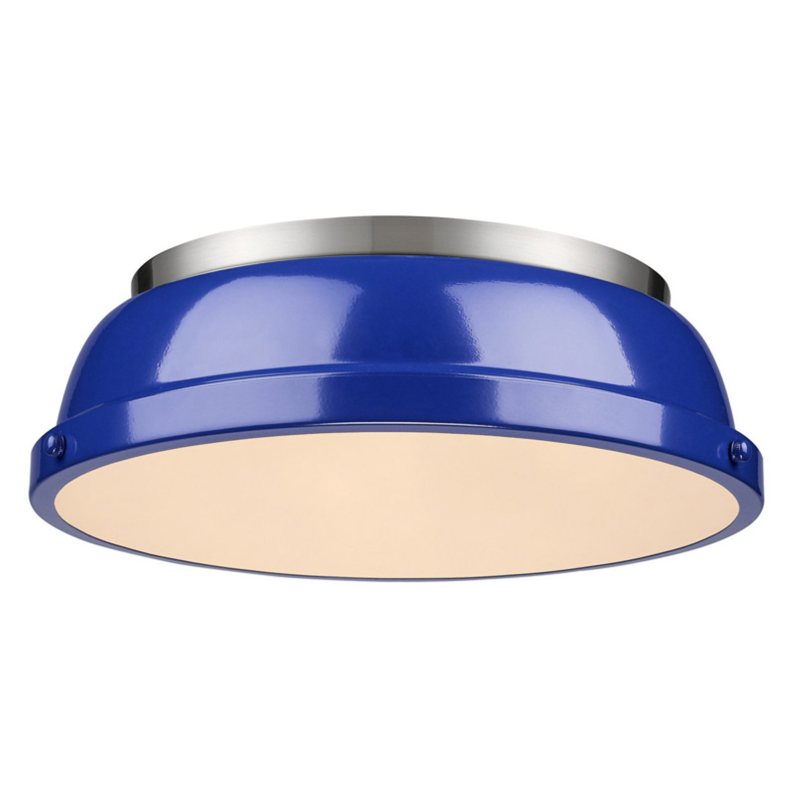 Golden Lighting 3602 14 2 Light Wide Flush Mount Ceiling Fixture From The Du Com