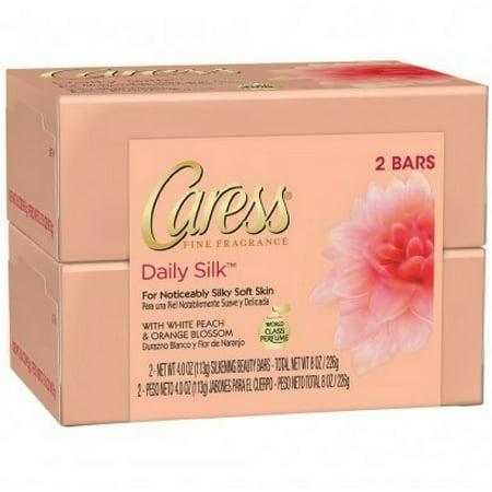 Caress Daily Silk Beauty Bars  4 25 Oz Bars  2 Ea