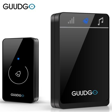 Guudgo GD-MD01 Doorbell Wireless Touch Screen Door Bell Chime 52 Music (Screen Doorbell)