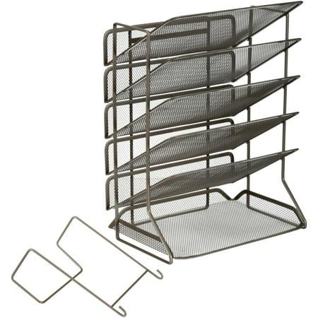 Seville Clics 6 Tray Iron Mesh Letter A4 Office Vertical Desktop Wall