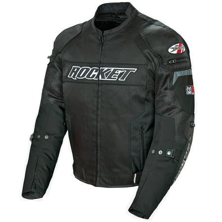 Joe Rocket Resistor Mens Black Mesh Motorcycle Jacket