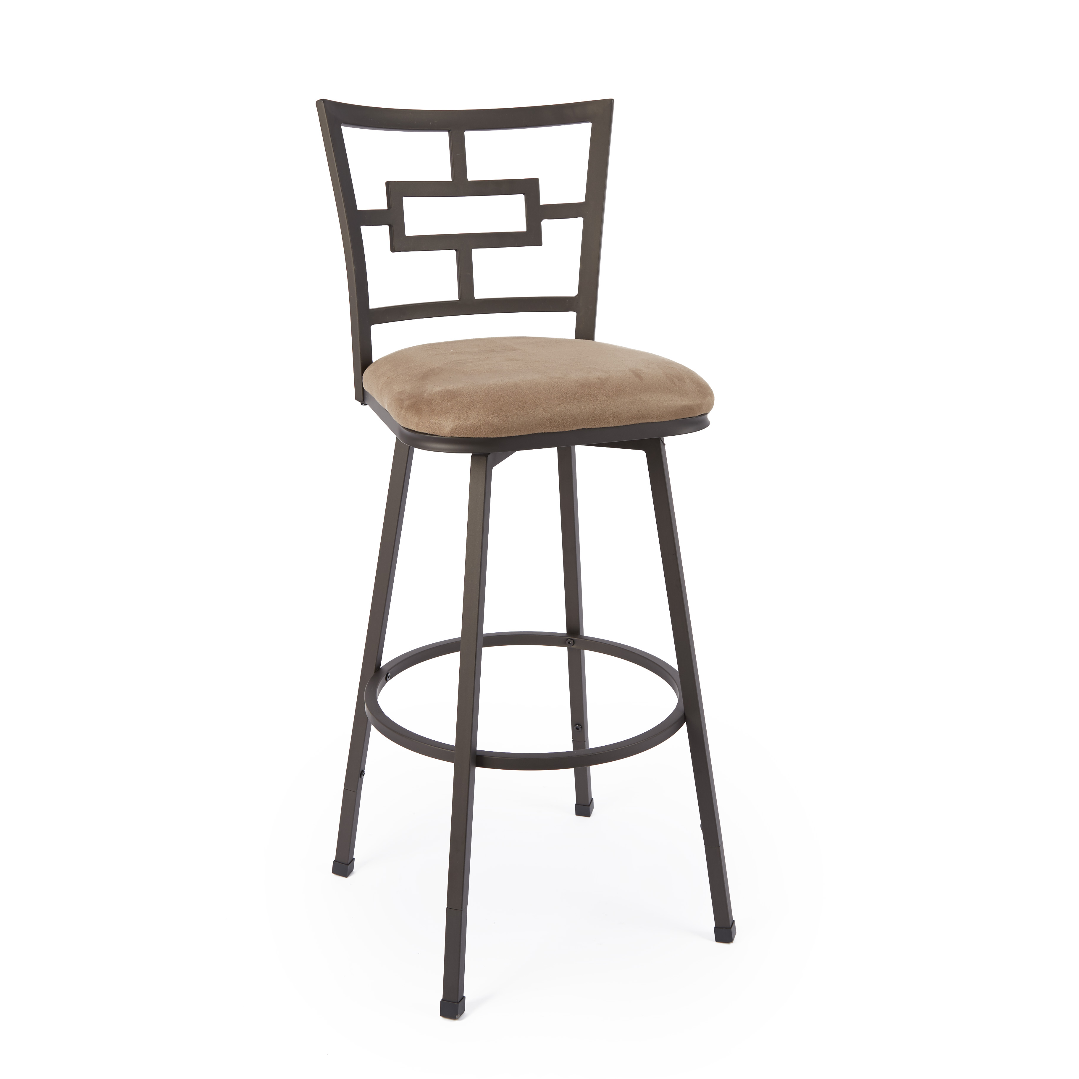 Carlyle Adjustable Height Barstool with Square Swivel Seat Walmart