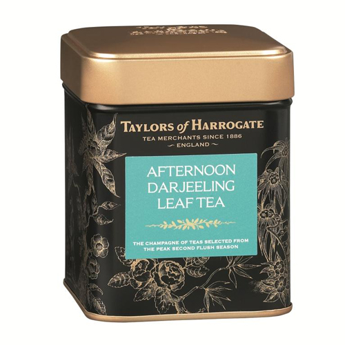 Taylors of Harrogate Afternoon Darjeeling Leaf Tea Tin, 4.4 Oz
