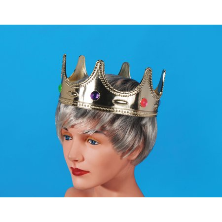 Star Power Royalty Jeweled Prince Costume Crown, Gold, One Size - Plastic Prince Crown