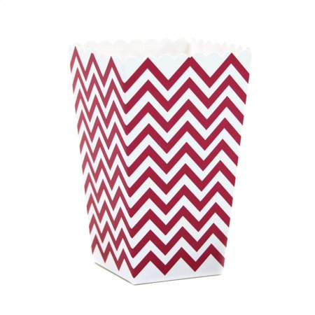 Dress My Cupcake 12-Pack Party Popcorn Boxes, Chevron, Red](Red Chevron)