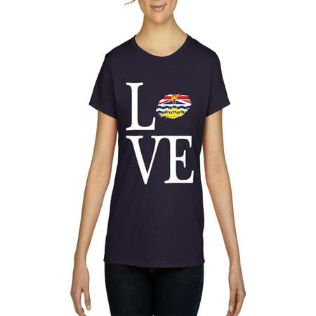 Columbia Womens Explorer - Love Canada British Columbia Women Shirts T-Shirt Tee