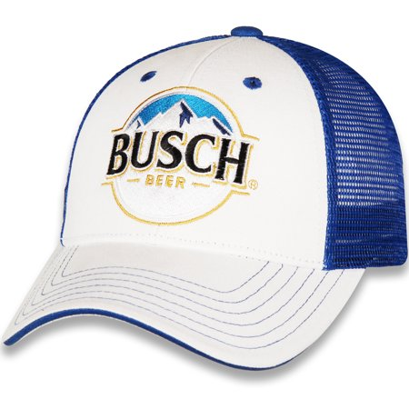 Men's Checkered Flag White/Royal Kevin Harvick Busch Adjustable Hat - OSFA (Anheuser Busch Hat)