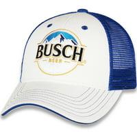 Men's Checkered Flag White/Royal Kevin Harvick Busch Adjustable Hat - OSFA