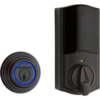 Kwikset 99250-203 Venetian Bronze Kevo 2nd Gen Touch-To-Open Bluetooth Key & Electronic Smart