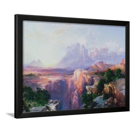 Rock Towers of the Rio Virgin, 1908 Framed Print Wall Art By Thomas