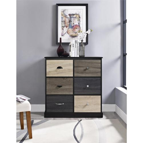 Altra Blackburn 6-door Storage Cabinet with Multicolored Door Fronts