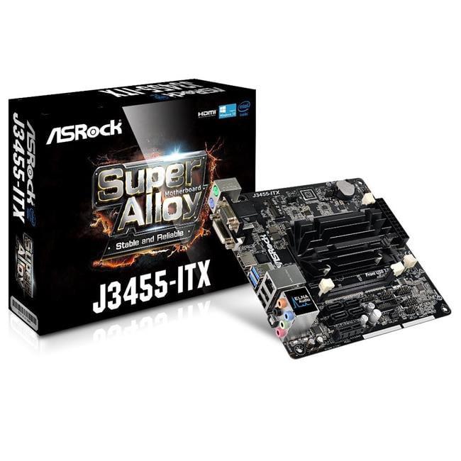 ASRock J3455-ITX Motherboard Quad-Core SoC DDR3-DDR3L SODIMM Max 16 GB - Black