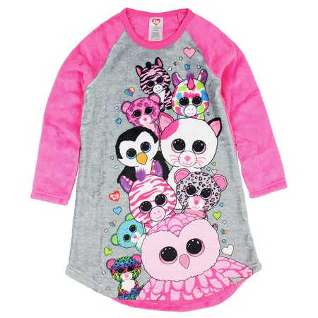Intimo Girls' Ty Beanie Boo Party Raglan Nightgown - Party Ty