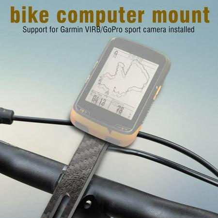 Integrated Stem (HERCHR Road Bike Cycling Computer Holder Integrated Handlebar Stem for Garmin for Bryton/Garmin Series, Bike Computer Holder, Bicycle Handlebar)