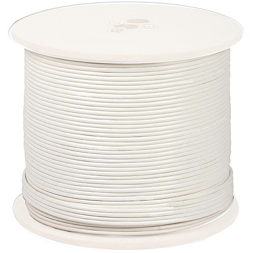 Night Owl CAB-RG59W-1000VP 18AWG In-Wall Fire Rated Cable, White, 1,000'