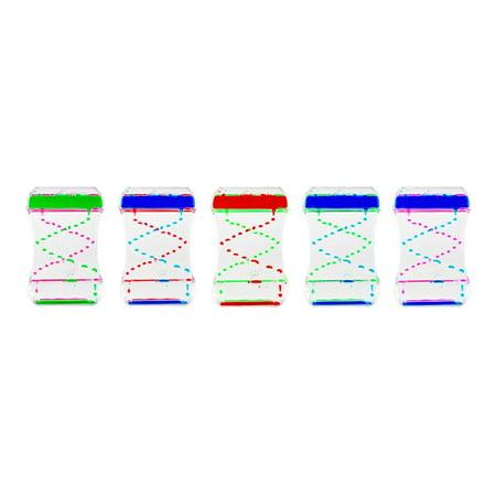 Colorful Liquid Motion Bubbler Desk Sensory Toy Timer