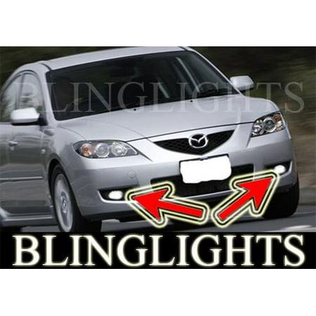 2008 2009 Mazda3 Mazda 3 Maxx Sport BK 2 Xenon Fog Lamps Driving Lights Foglamps Foglights Kit 3 Driving Lamp