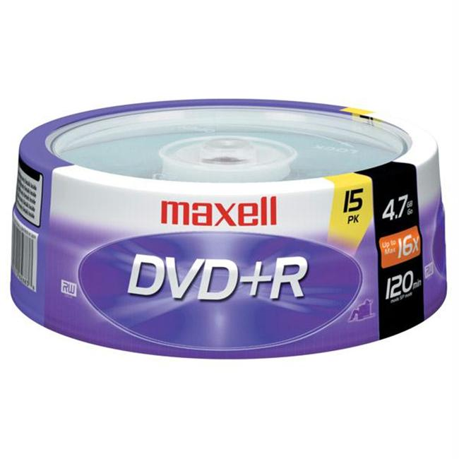 Maxell 16X Write-Once Dvd+R Spindle - 15 Disk Spindle