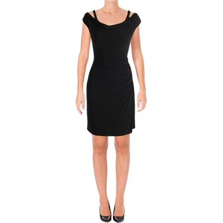 - Lauren Ralph Lauren Womens Beaded Cowl Neck Cocktail Dress