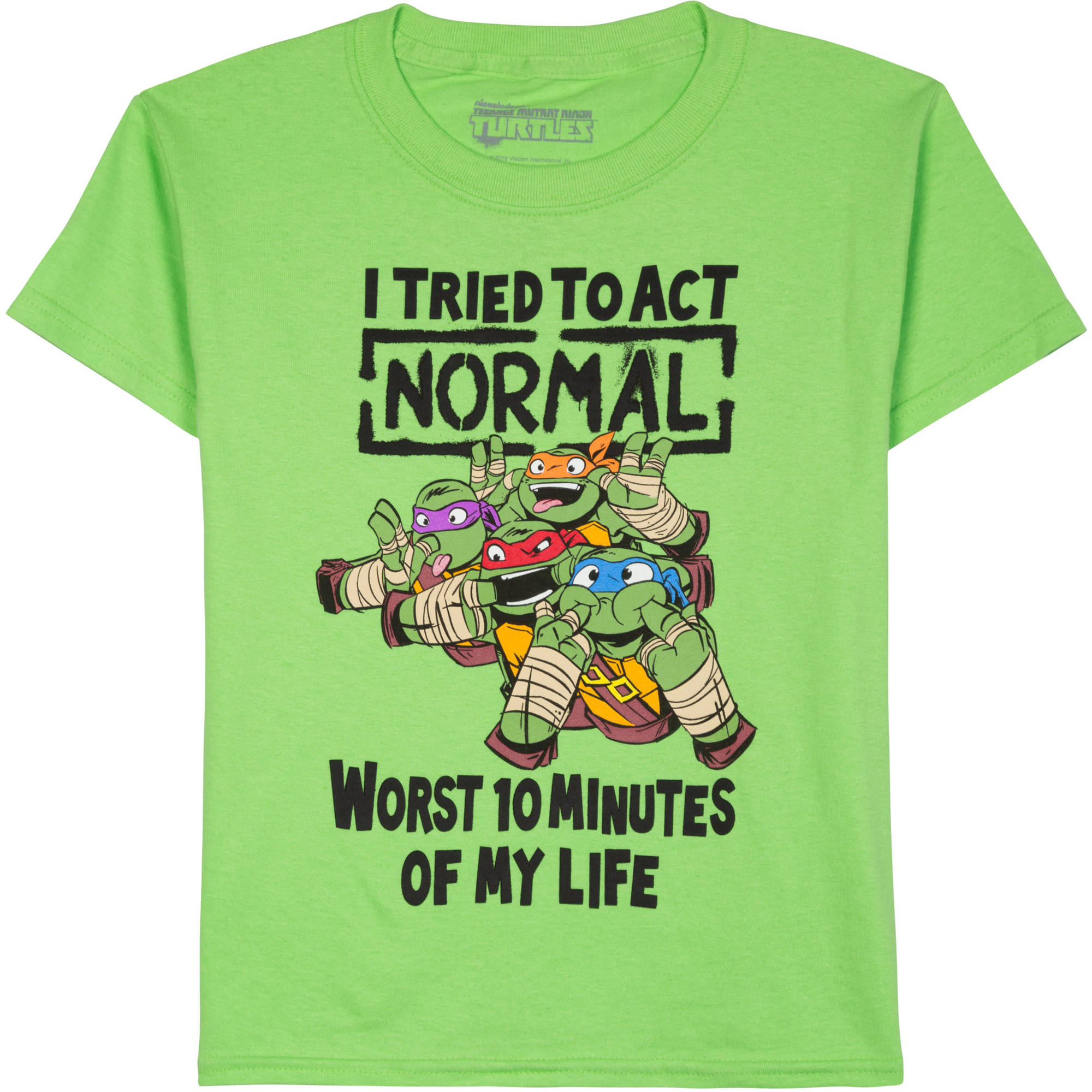 Teenage Mutant Ninja Turtles Tried To Act Normal Boys Graphic Tee