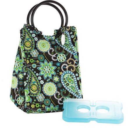 Fit & Fresh Retro Insulated Lunch Bag (Green Paisley) 371FFST104
