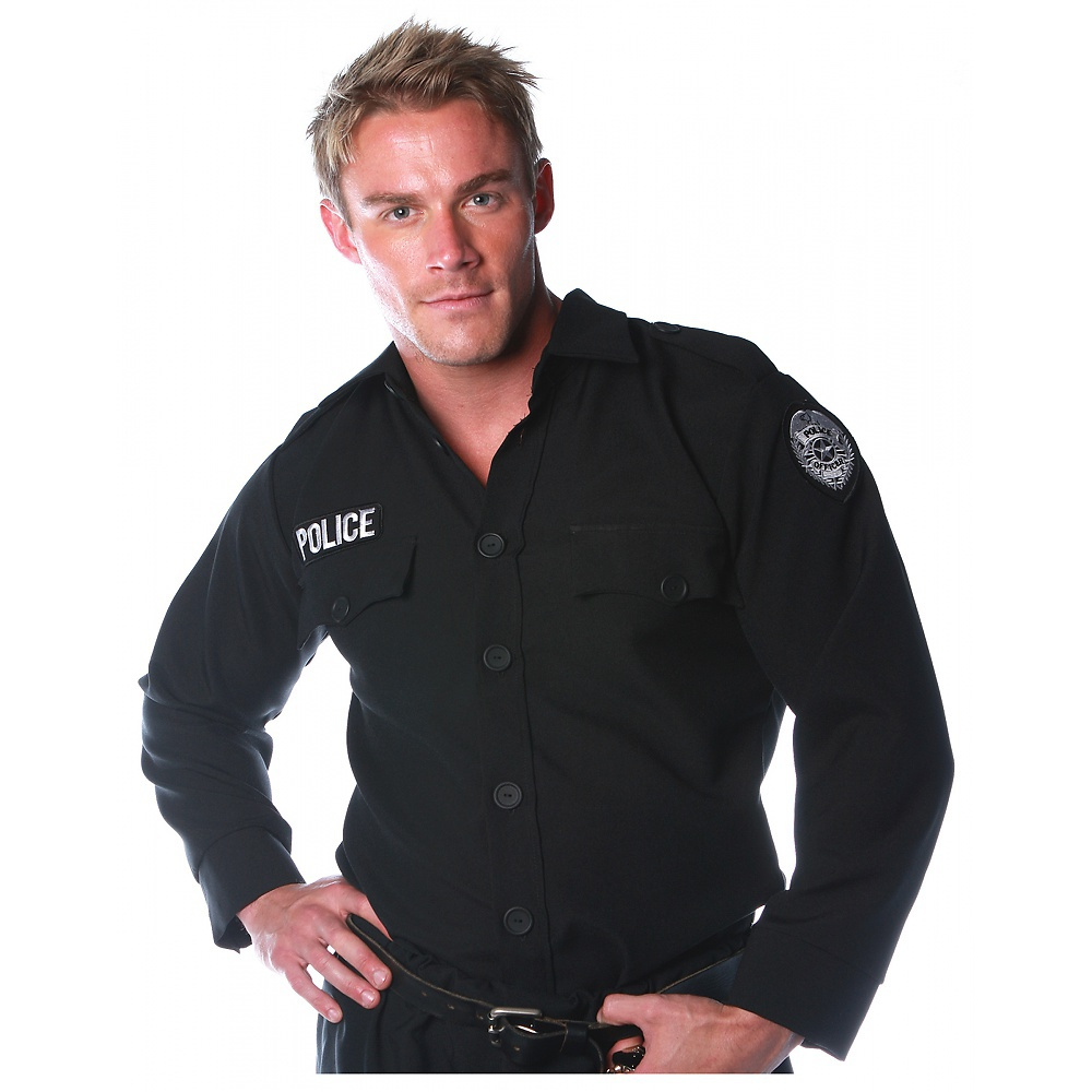Police Shirt Adult Costume - X-Large