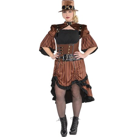 Plus Size Steampunk (Steamy Dreamy Steampunk Halloween Costume for Women, Plus Size, with)