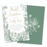 Personalized Vintage Florals Bridal Luncheon Invitations