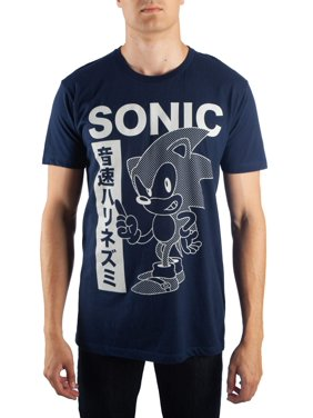 023ba68b2 Product Image Men's Sonic Hedgehog Monochromatic Graphic Print T-Shirt, Up To  Size 2Xl