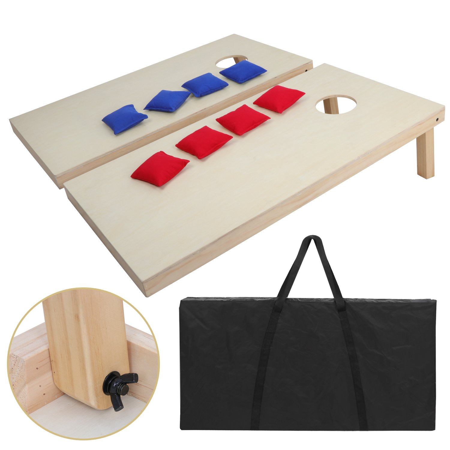 Corn Hole Game Bean Bag Toss Outdoor Play Set Tailgaters Camping BBQ Aluminum