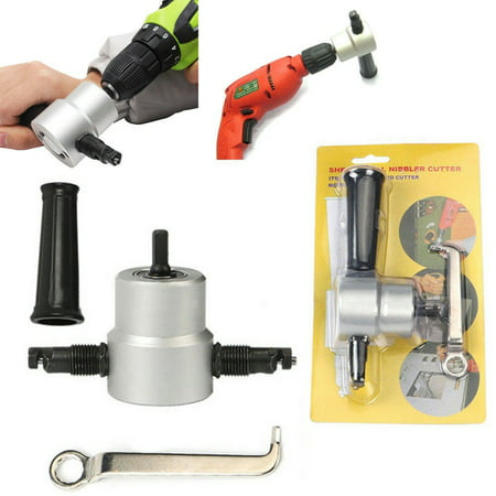 Double Head Sheet Metal Nibbler Saw Cutter Cutting Tool Power Drill Attachment - image 8 of 8