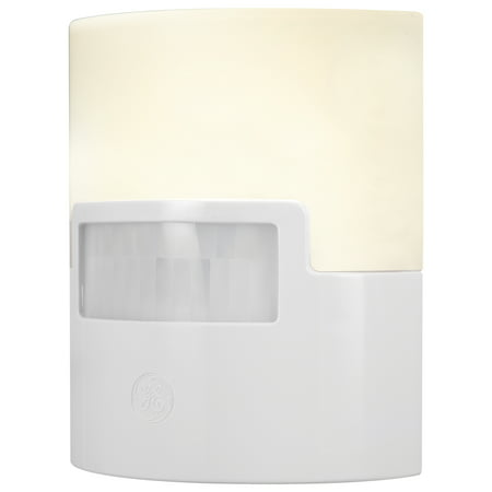 GE UltraBrite Motion-Activated LED Night Light, 40 Lumen, White, 12201 ()