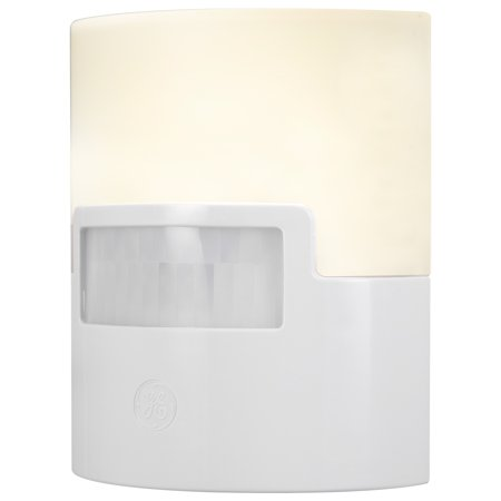 GE UltraBrite Motion-Activated LED Night Light, 40 Lumen, White, 12201