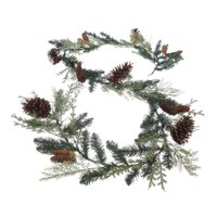 Holiday Time Mixed Greenery Un-Lit Garland, 9'