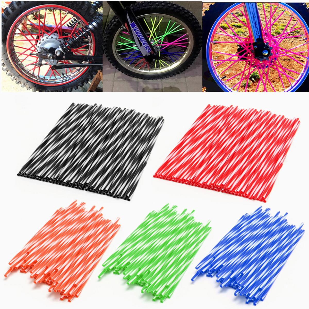 72PCS Spoke Skins Covers for Motocross Dirt Bike Wheel Rim Guard Protector Wraps