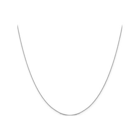 Leslie or blanc 14K .85 mm taille diamant Cha?ne porte-c?bles - image 5 de 5