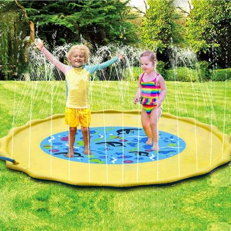 """Image of """"TURNADA 68"""""""" Sprinkler for Kids Splash Pad & Splash Play Mat Water Toys for Kids TURNADAr, Kids Sprinklers for Outside Water Play Sprinkler, Inflatable Sprinkler and Splash Play Mat Toy for Infants Tod"""""""