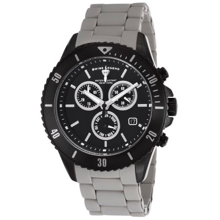 Swiss Legend 93609-Bb-11-Grys Luminoso Chronograph Two-Tone Bracelet Black Dial Watch